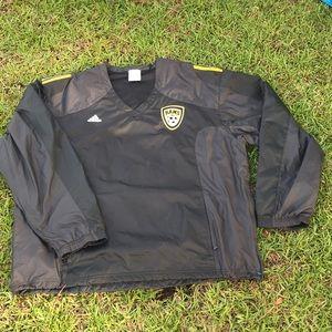 Adidas windbreaker Jersey jacket Sz 2XL